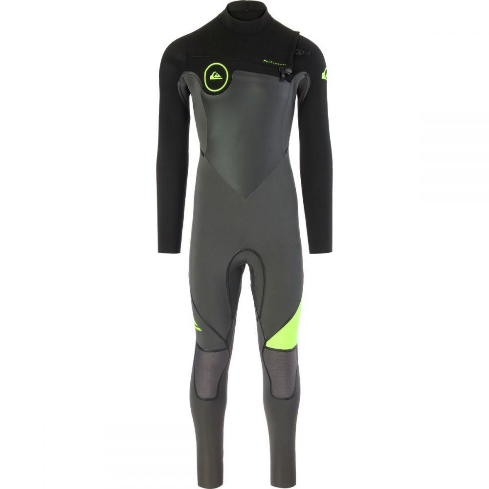 クイックシルバー Quiksilver メンズ 水着・ビーチウェア ウェットスーツ【4/3 Syncro Plus Chest Zip LFS Wetsuits】Jet Black/ Black/ Safety Yello