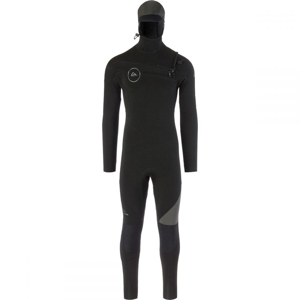 クイックシルバー Quiksilver メンズ 水着・ビーチウェア ウェットスーツ【5/4/3 Syncro Chest Zip GBS Hooded Wetsuits】Black/Jet Black