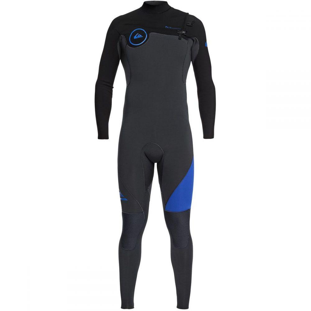 クイックシルバー Quiksilver メンズ 水着・ビーチウェア ウェットスーツ【3/2 Syncro Chest Zip GBS Wetsuits】Graphite/Black/Deep Cyanine
