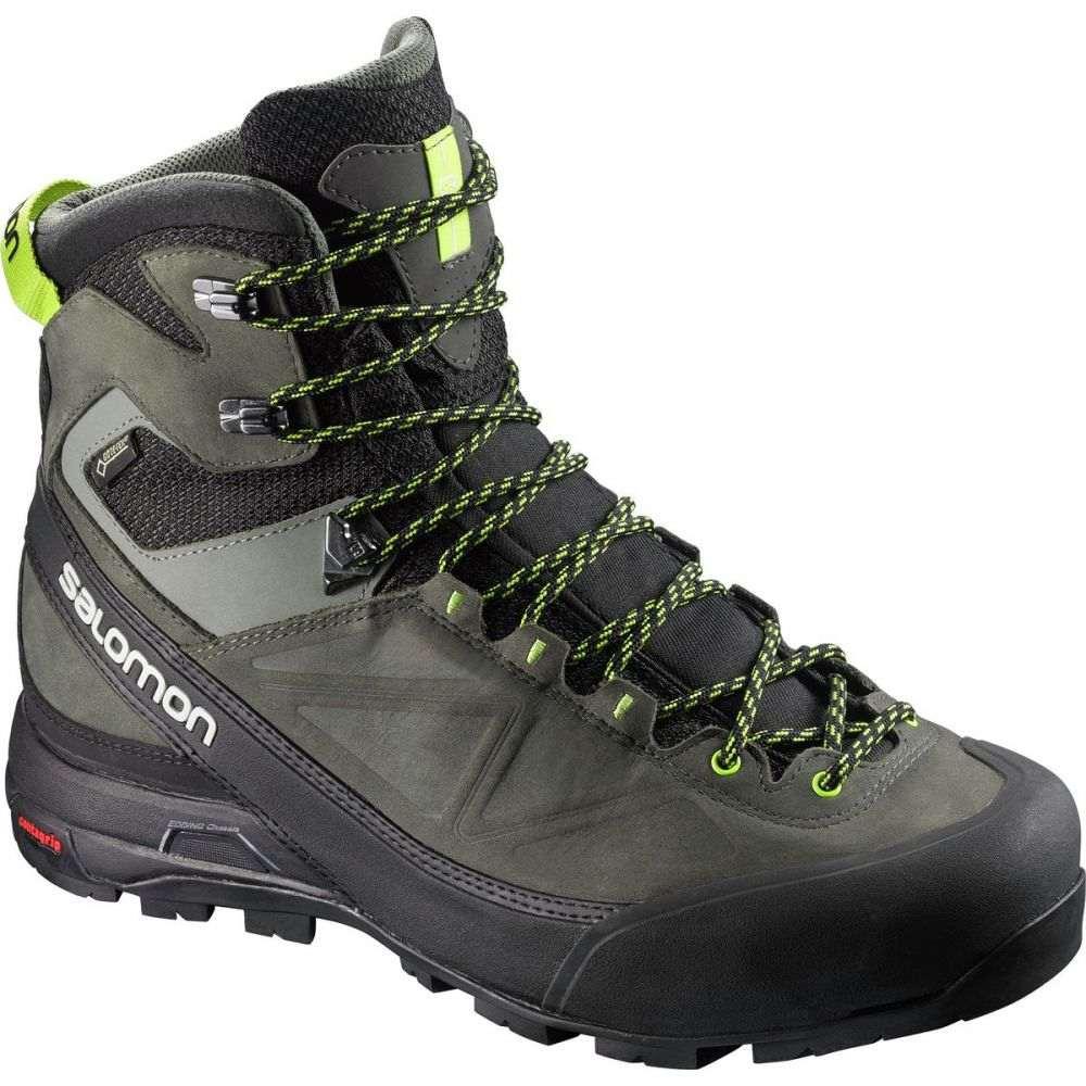 サロモン Salomon メンズ ハイキング・登山 シューズ・靴【X Alp MTN GTX Boots】Black/Beluga/Lime Punch
