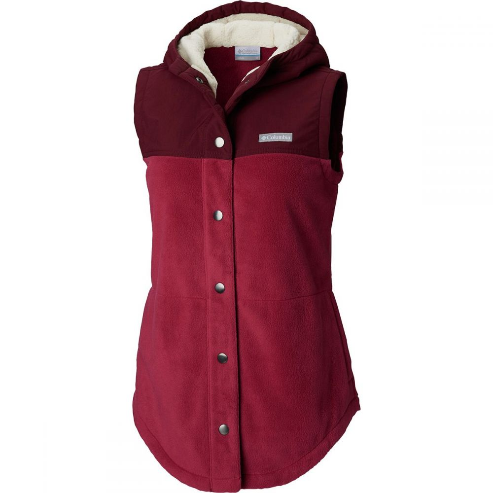 コロンビア Columbia レディース トップス ベスト・ジレ【Benton Springs Overlay Fleece Vest】Wine Berry/Deep Madeira
