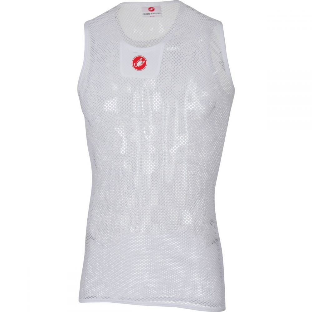 カステリ Castelli メンズ 自転車 トップス【Core Mesh 3 Sleeveless Baselayers】White