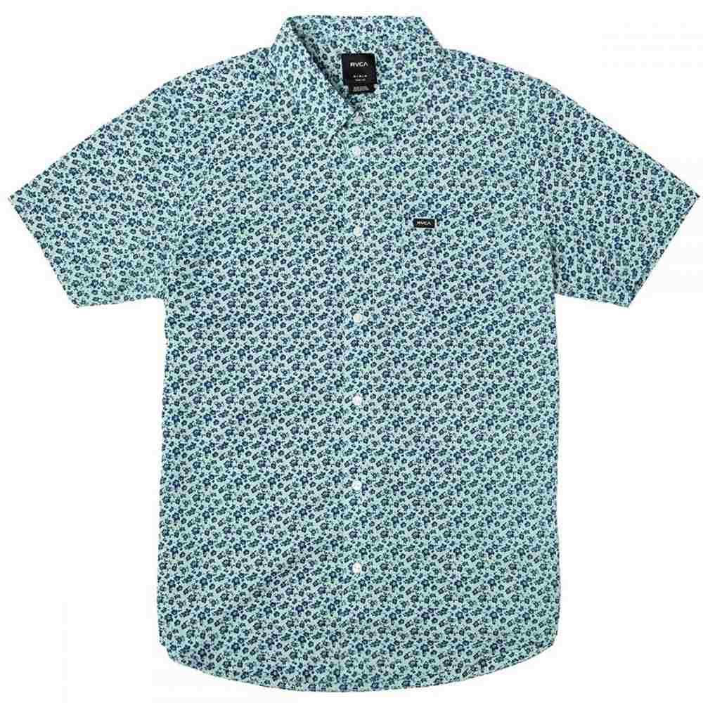 ルーカ RVCA メンズ トップス 半袖シャツ【Porcelain Shirts】Ether Blue