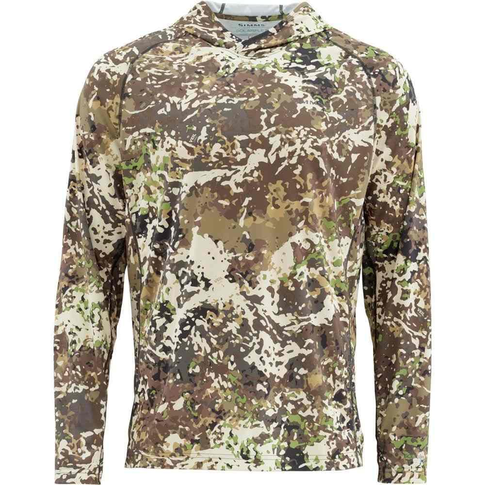 シムズ Simms メンズ 釣り・フィッシング トップス【Solarflex Hooded Print Shirts】River Camo