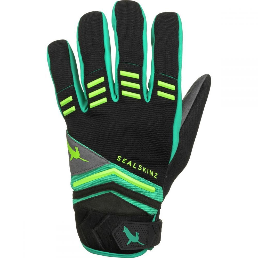 シールスキンズ SealSkinz メンズ 自転車 グローブ【Dragon Eye MTB Gloves】Black/Leaf Green/Lime