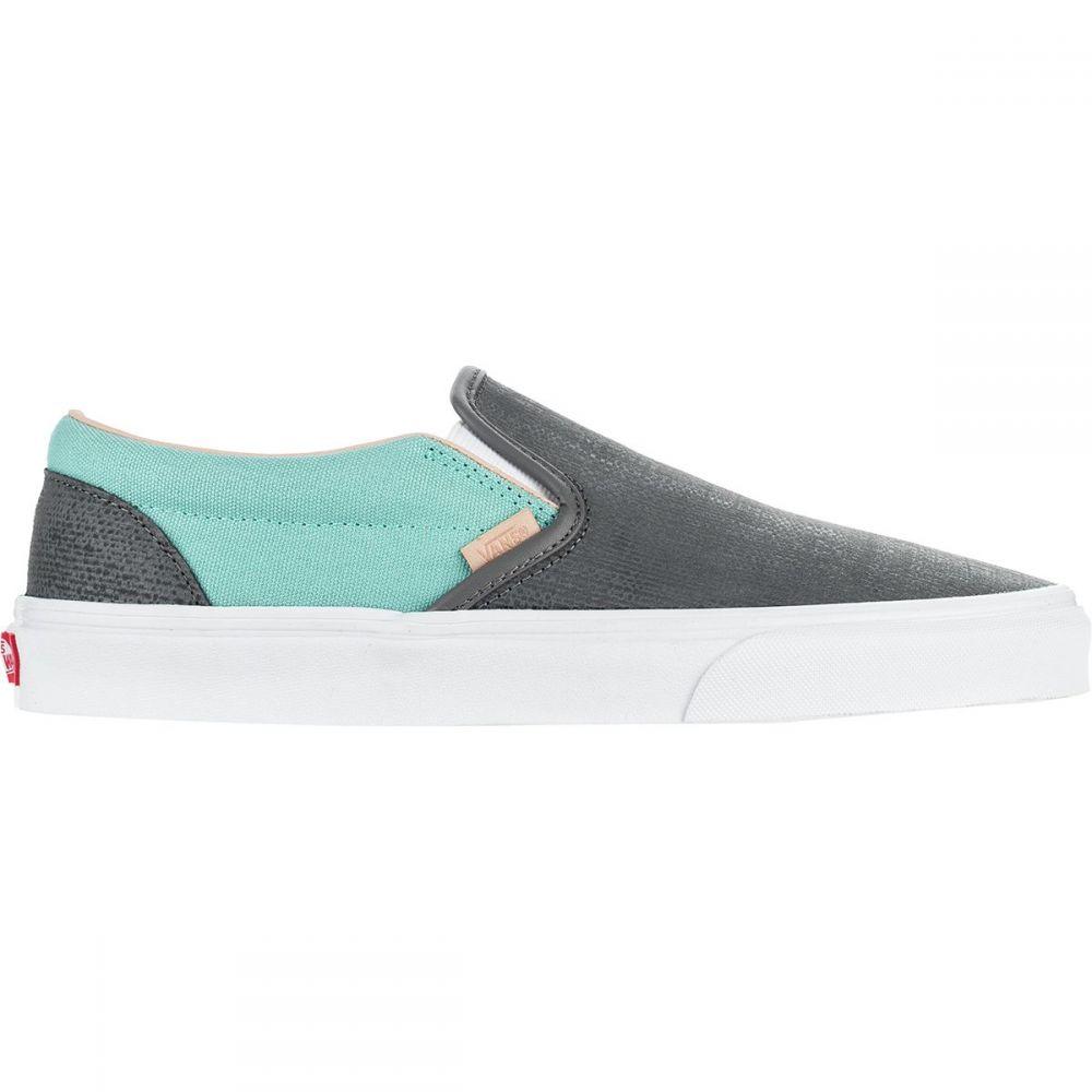 ヴァンズ Vans メンズ シューズ・靴 スリッポン・フラット【Classic Slip - On Shoes】(textured Suede) Pewter/Aqua Haze [llt]