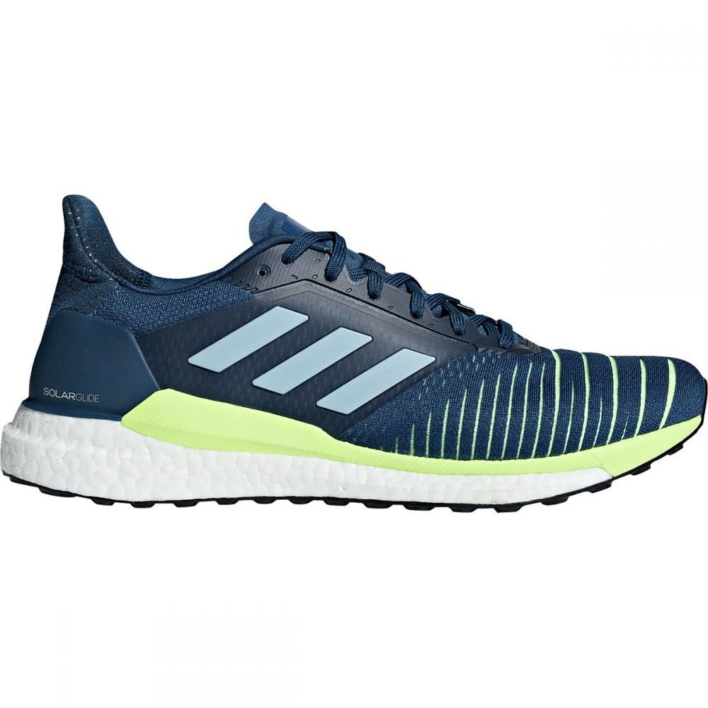 アディダス Adidas メンズ ランニング・ウォーキング シューズ・靴【Solar Glide Boost Running Shoes】Legend Marine/Ash Grey S18/Hi-res Yellow