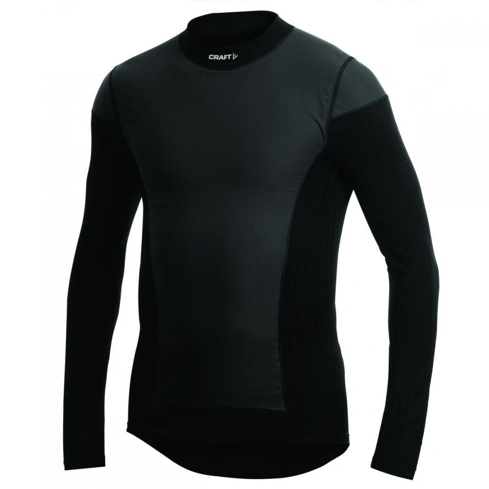 クラフト Craft メンズ 自転車 トップス【Active WindStopper Crew Long - Sleeve Baselayers】Black
