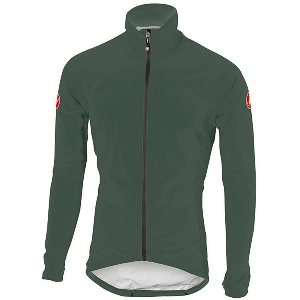 カステリ Castelli メンズ 自転車 アウター【Emergency Rain Jackets】Forest Gray