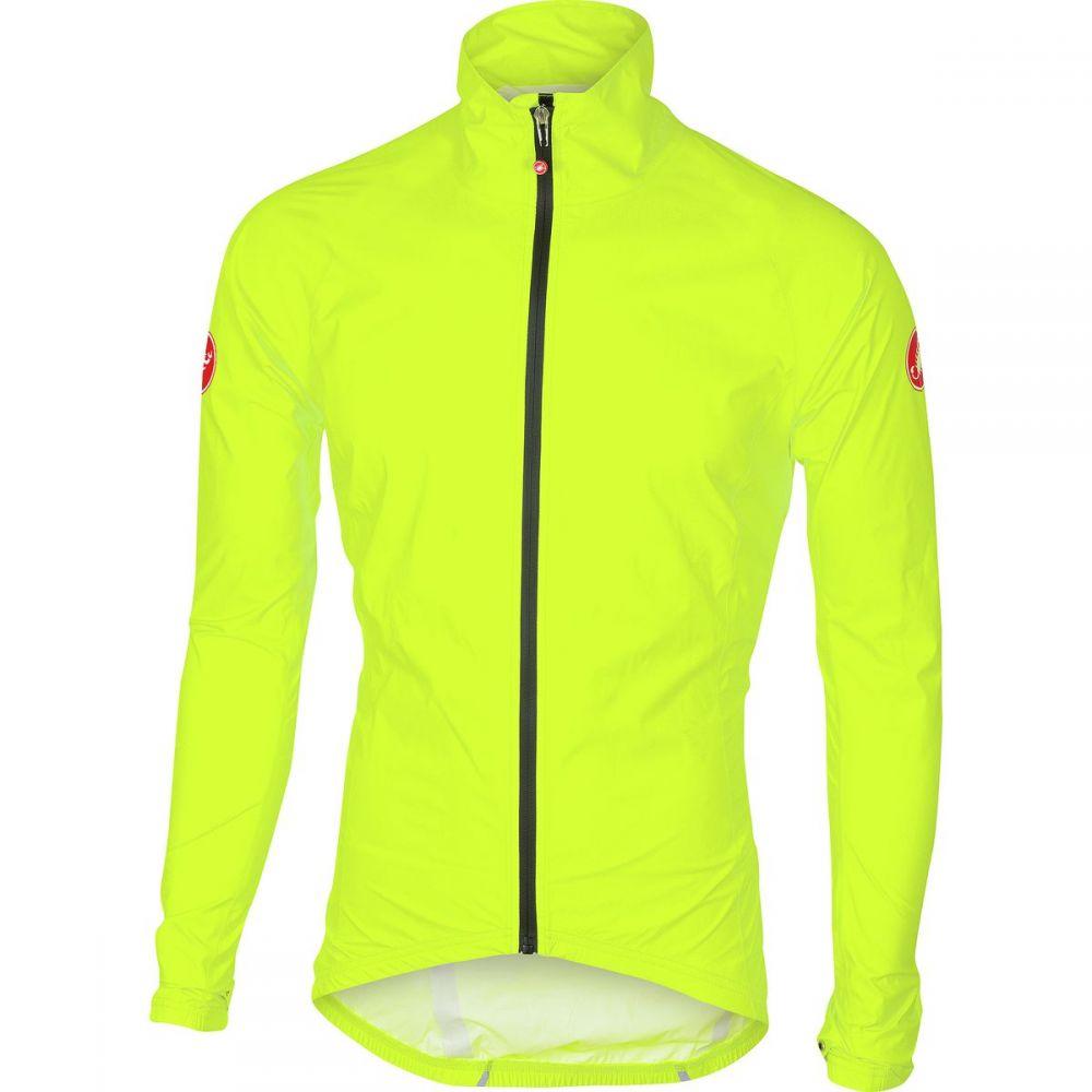 カステリ Castelli メンズ 自転車 アウター【Emergency Rain Jackets】Yellow Fluo