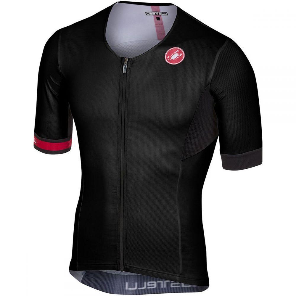カステリ Castelli メンズ トライアスロン トップス【Free Speed Race Tri Jerseys】Black