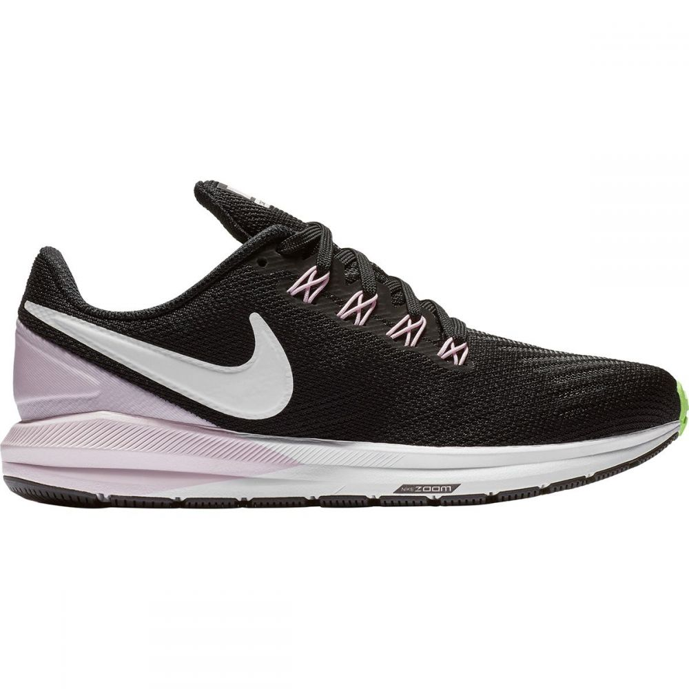 ナイキ Nike レディース ランニング・ウォーキング シューズ・靴【Air Zoom Structure 22 Running Shoe】Black/Vast Grey-Pink Foam -Lime Blast