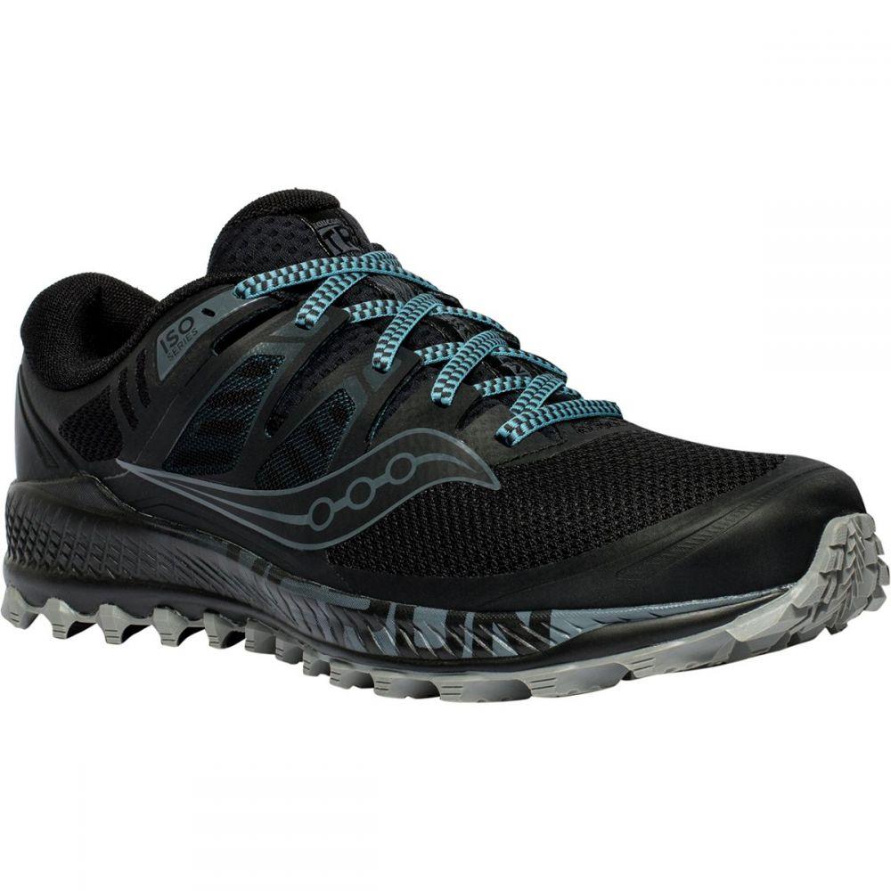サッカニー Saucony メンズ ランニング・ウォーキング シューズ・靴【Peregrine Iso Trail Running Shoes】Black/Grey