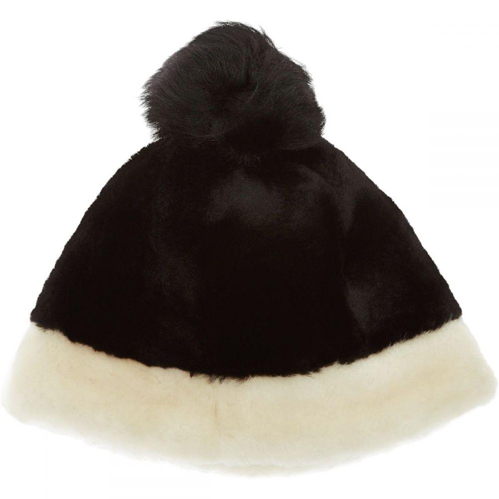 アグ UGG レディース 帽子 ニット【Color Blocked Sheepskin Beanie】Black