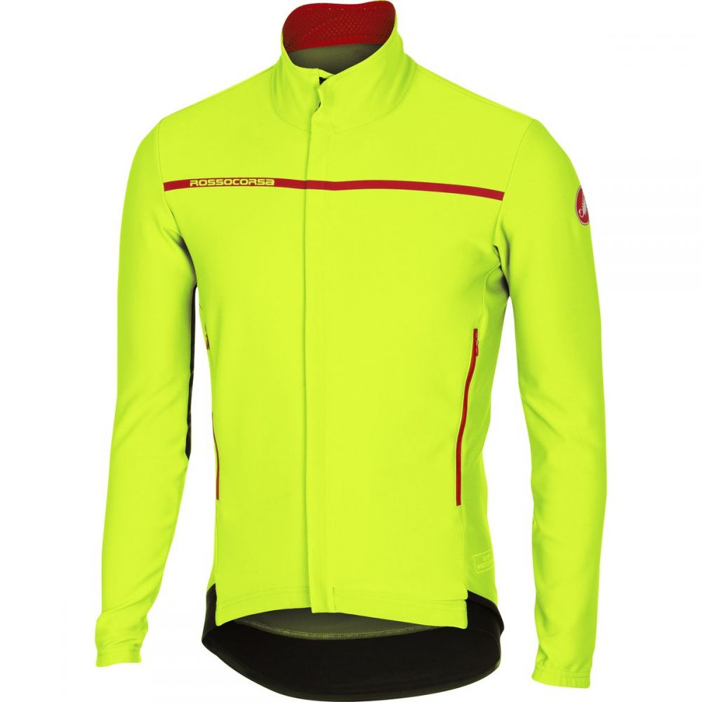 カステリ Castelli メンズ 自転車 トップス【Perfetto Long - Sleeve Jerseys】Yellow Fluo