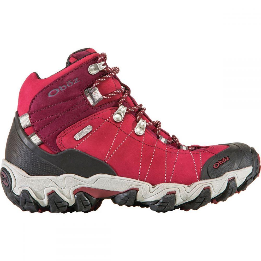 オボズ Oboz レディース ハイキング・登山 シューズ・靴【Bridger Mid B - Dry Hiking Boot - Wide】Rio Red