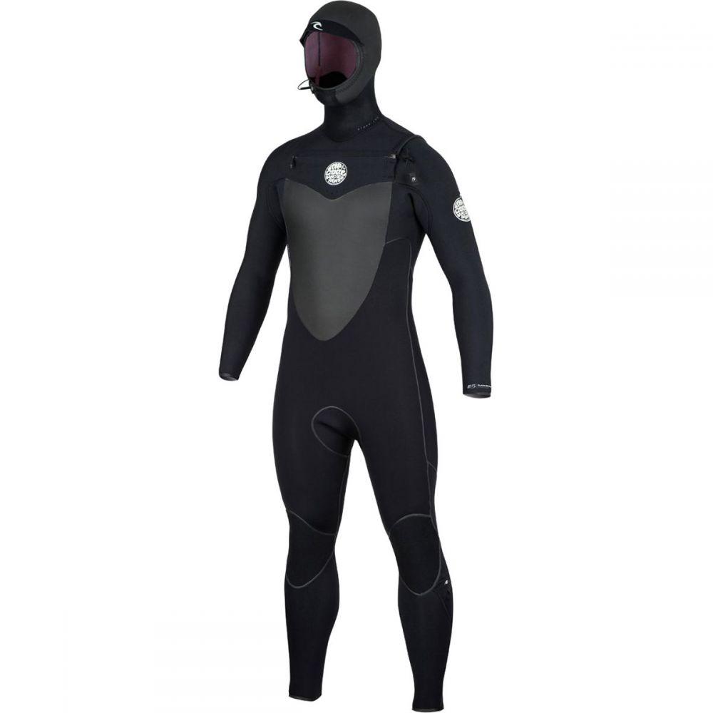 リップカール Rip Curl メンズ 水着・ビーチウェア ウェットスーツ【Flashbomb 4/3 Hooded Chest - Zip ST Wetsuits】Black