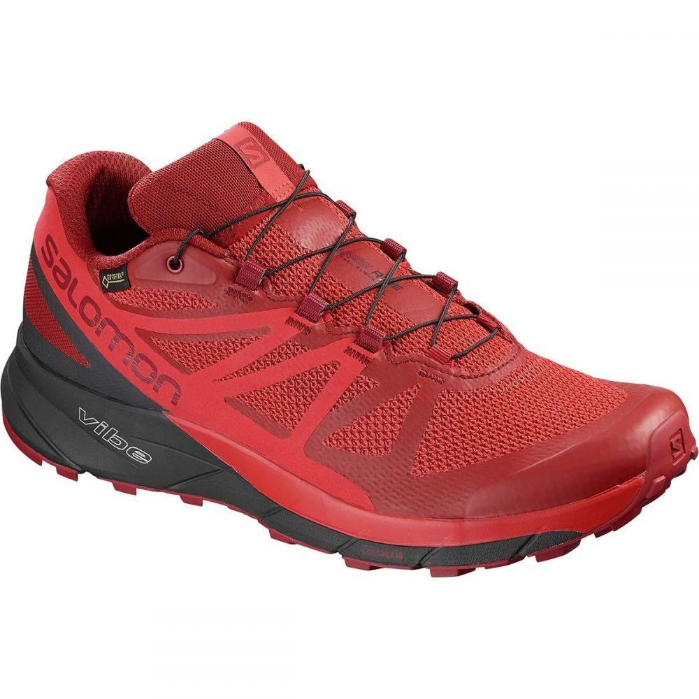 サロモン Salomon メンズ ランニング・ウォーキング シューズ・靴【Sense Ride GTX Invisible Fit Trail Running Shoes】Red Dahlia/Phantom/High Risk Red
