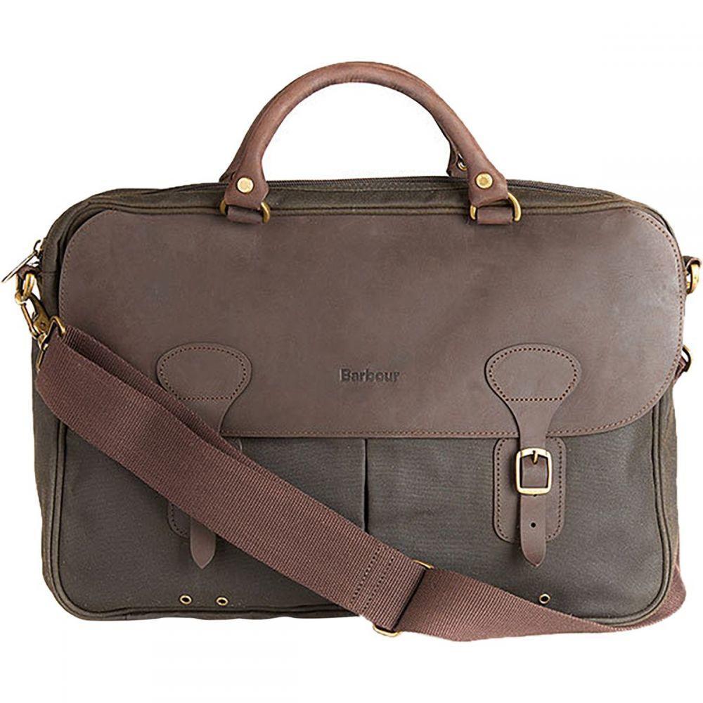 バーブァー Barbour レディース バッグ【Wax Leather Briefcase】Olive