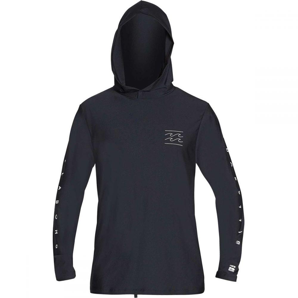 ビラボン Billabong メンズ 水着・ビーチウェア ラッシュガード【Unity Loose Fit Long - Sleeve Hooded Rashguards】Black