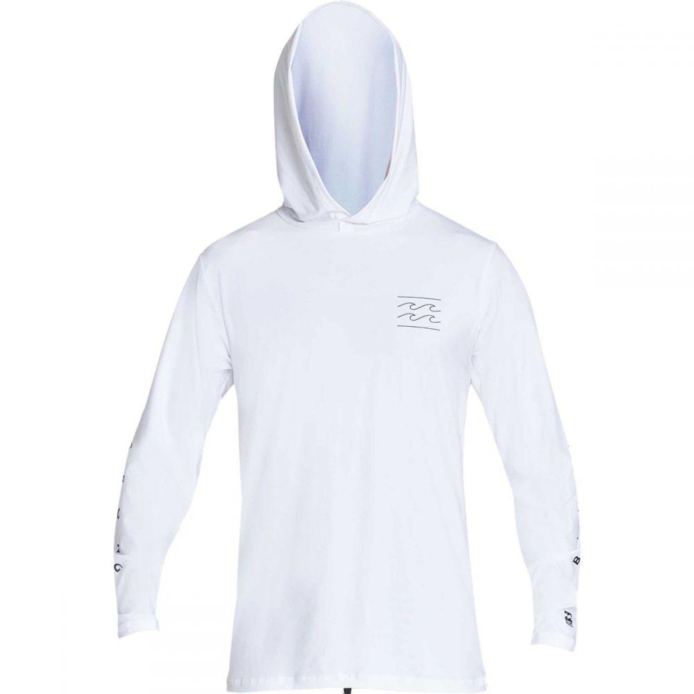 ビラボン Billabong メンズ 水着・ビーチウェア ラッシュガード【Unity Loose Fit Long - Sleeve Hooded Rashguards】White