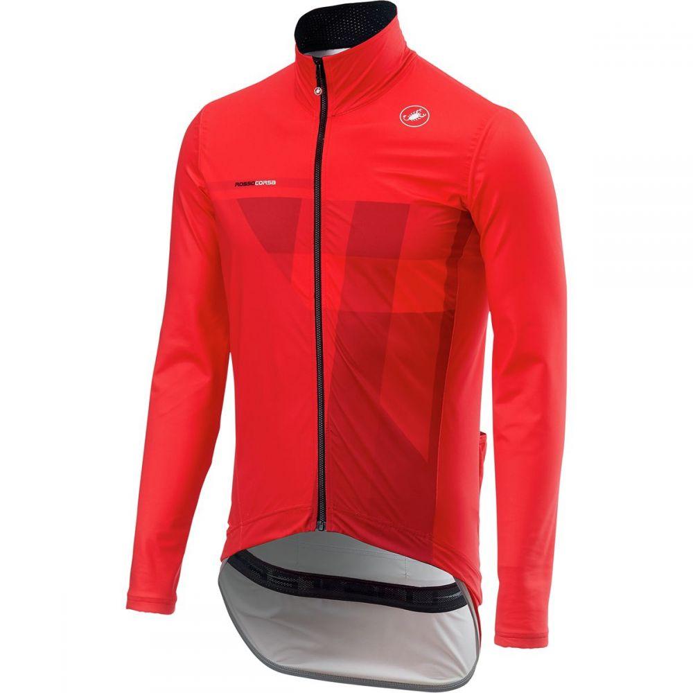 カステリ Castelli メンズ 自転車 アウター【Pro Fit Light Rain Jackets】Red