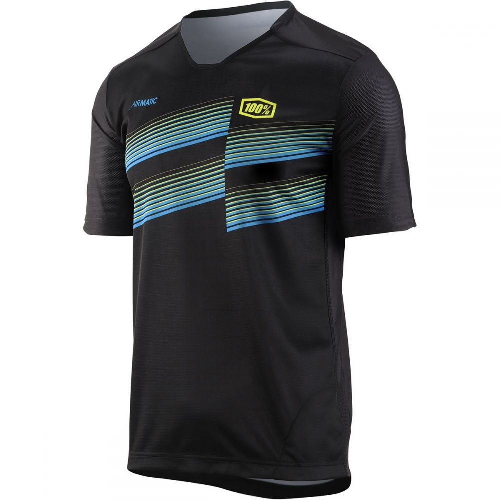 ヒャクパーセント 1 メンズ 自転車 トップス【Airmatic Jerseys】Black