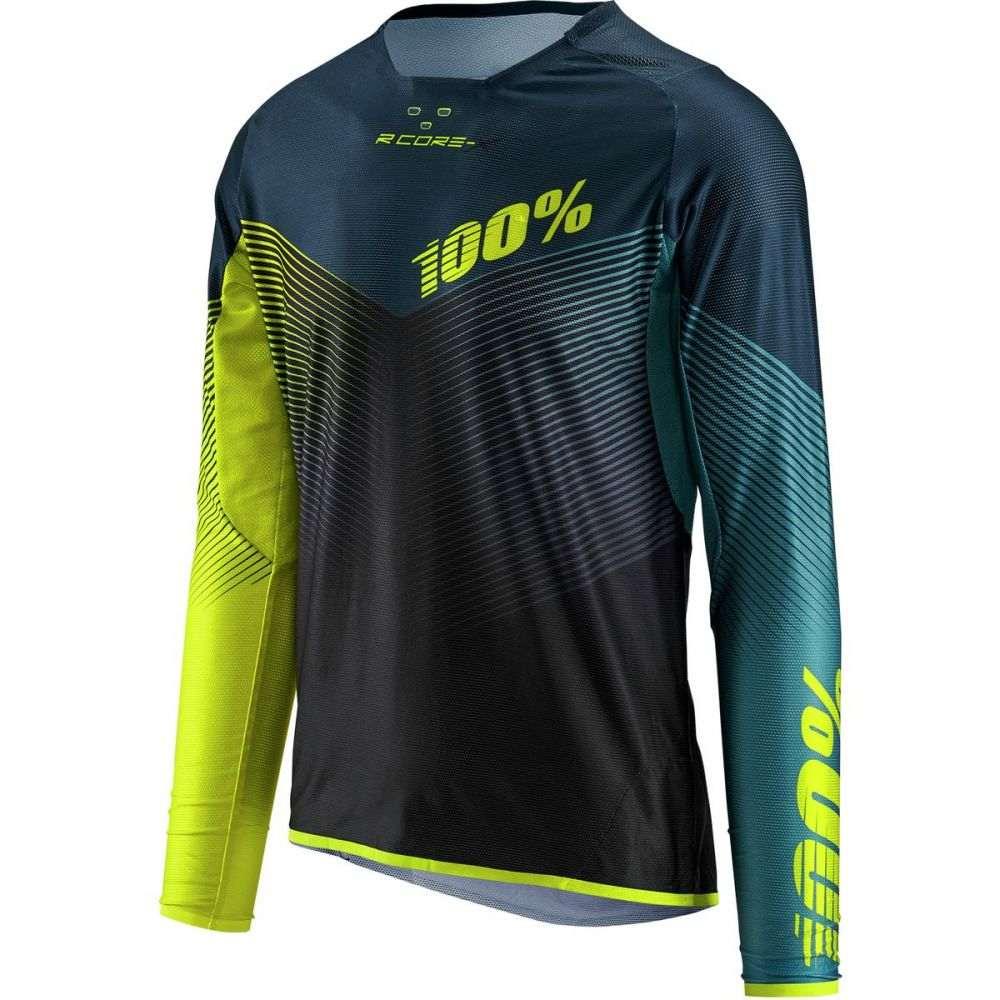 ヒャクパーセント 1 メンズ 自転車 トップス【R - Core - X DH Long - Sleeve Jerseys】Black