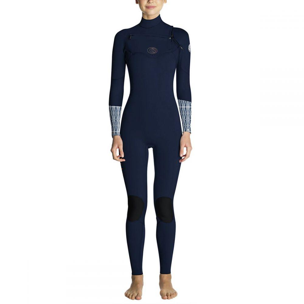 リップカール Rip Curl レディース 水着・ビーチウェア ウェットスーツ【Flash Bomb 3/2 Chest - Zip Full Wetsuit】Blue