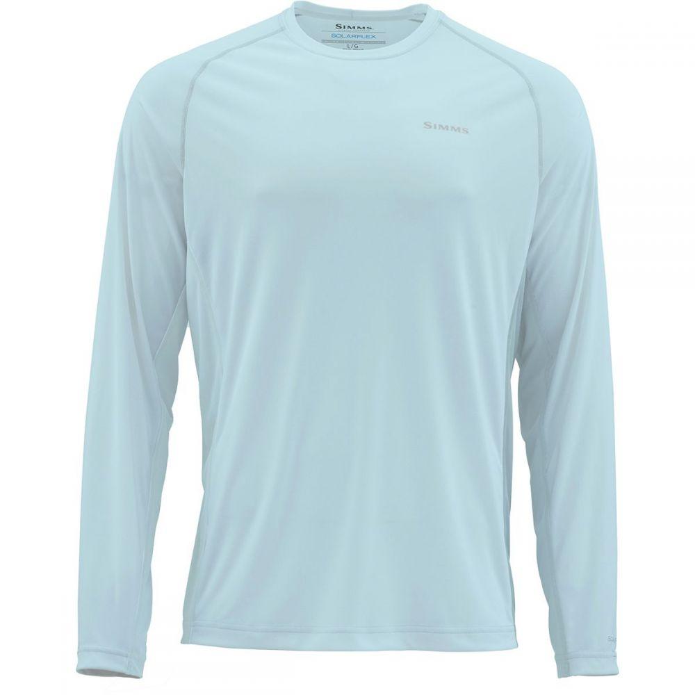 シムズ Simms メンズ 釣り・フィッシング トップス【SolarFlex Solid Long - Sleeve Crewneck Shirts】Fog