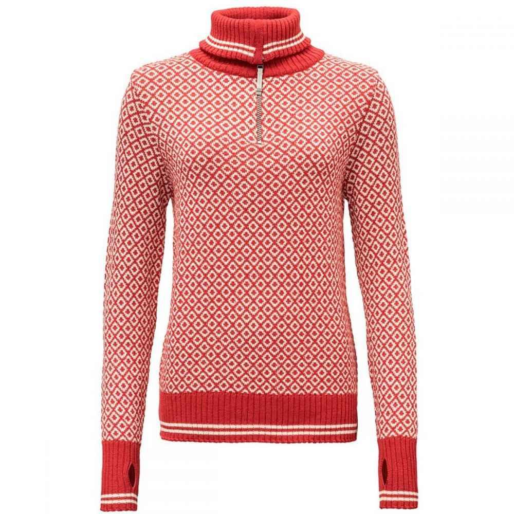 ディボルド Devold レディース トップス ニット・セーター【Slogen Zip Neck Sweater】Chilli