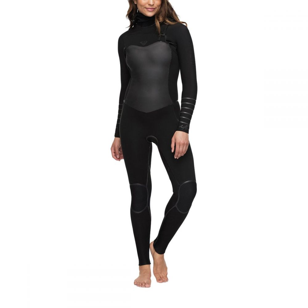 ロキシー Roxy レディース 水着・ビーチウェア ウェットスーツ【5/4/3 Syncro Plus Chest Zip LFS HD Wetsuit】Black