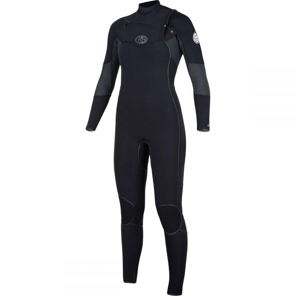 リップカール Rip Curl レディース 水着・ビーチウェア ウェットスーツ【Flash Bomb 3/2 Chest - Zip Full Wetsuit】Black
