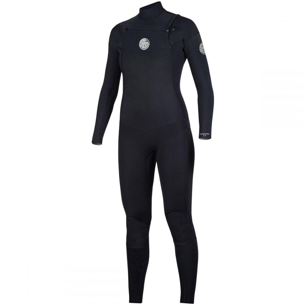 リップカール Rip Curl レディース 水着・ビーチウェア ウェットスーツ【Dawn Patrol 3/2 Chest - Zip Full Wetsuit】Black