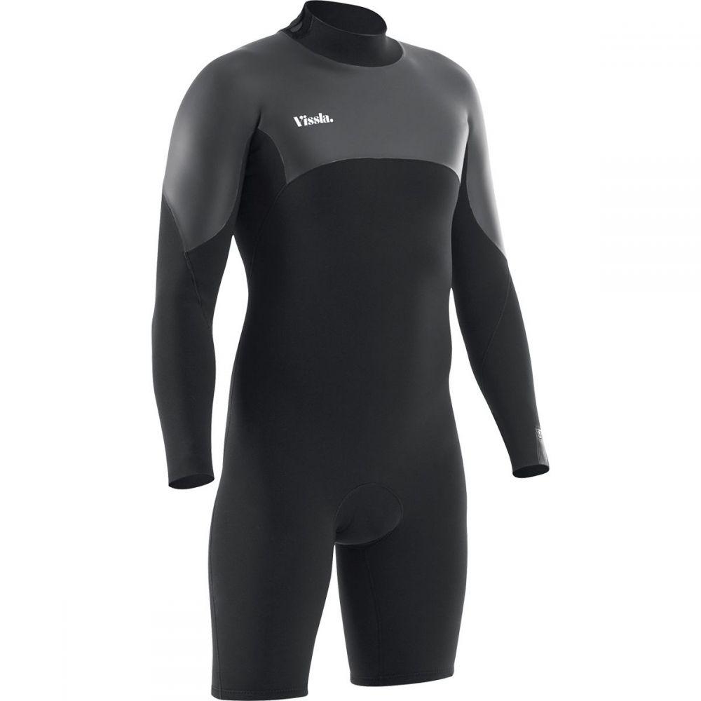 ヴィスラ Vissla メンズ 水着・ビーチウェア ウェットスーツ【7 Seas Back Zip Long - Sleeve Spring Wetsuits】Black