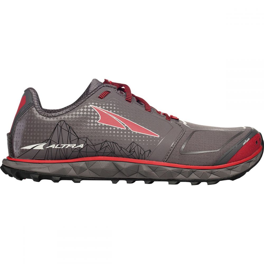 アルトラ Altra メンズ ランニング・ウォーキング シューズ・靴【Superior 4.0 Trail Running Shoes】Gray/Red