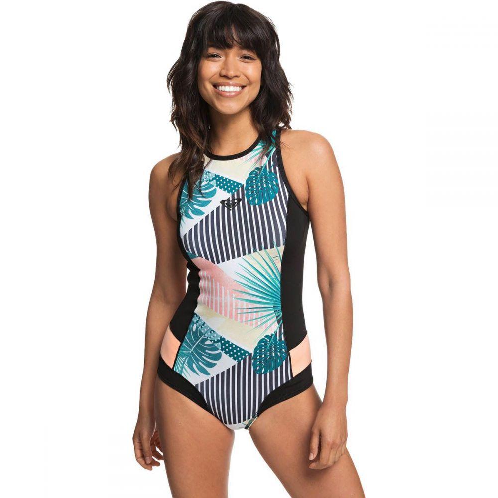 ロキシー Roxy レディース サーフィン ウェットスーツ【Popsurf 1mm Back - Zip Bikini RC B - LCK Springsuit】Black 2