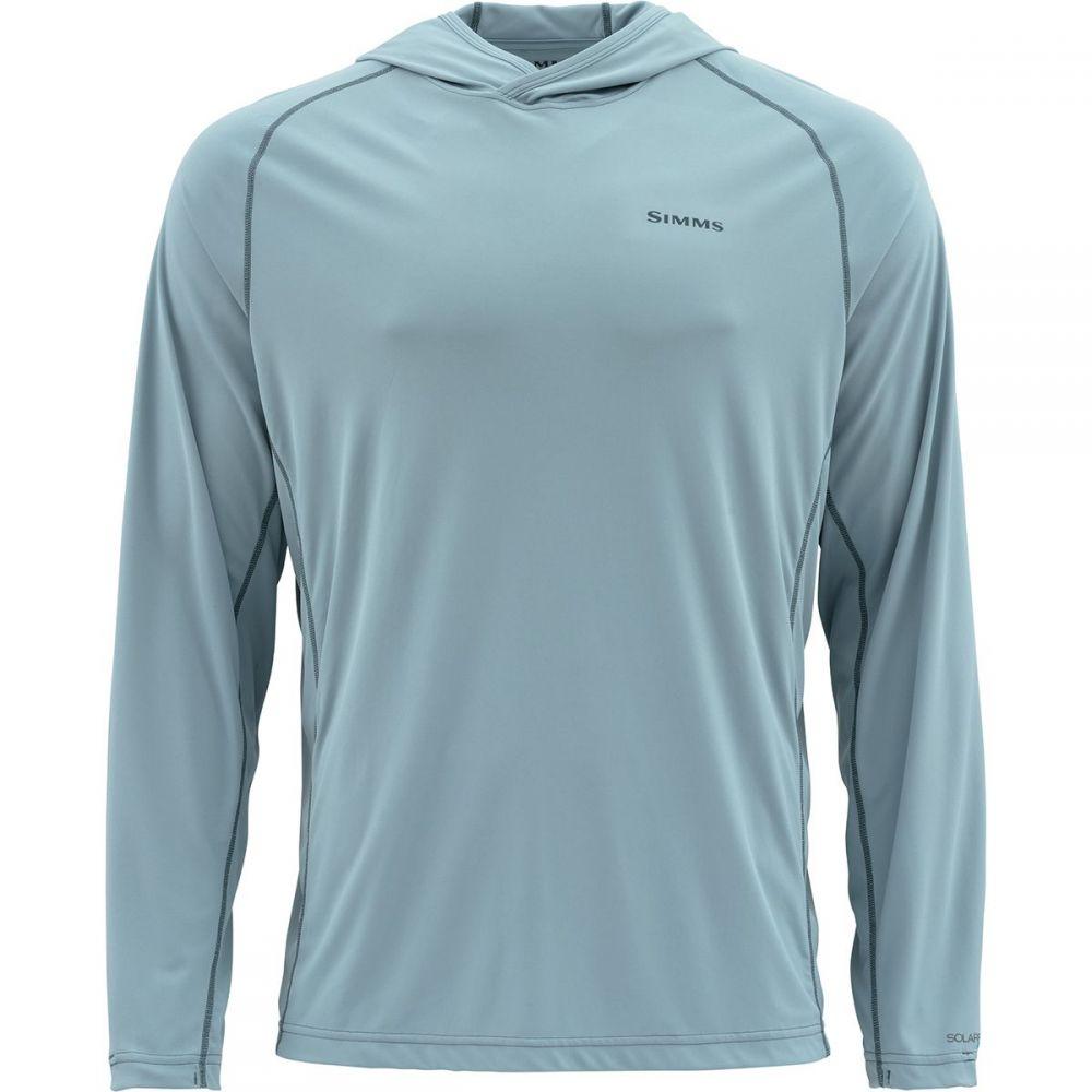 シムズ Simms メンズ 釣り・フィッシング トップス【BugStopper SolarFlex Hooded Pullovers】Grey Blue