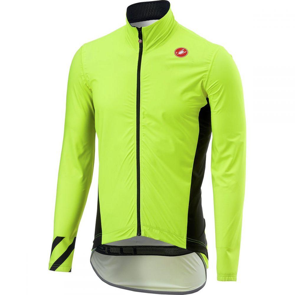 カステリ Castelli メンズ 自転車 アウター【Pro Fit Light Rain Jackets】Yellow Fluo