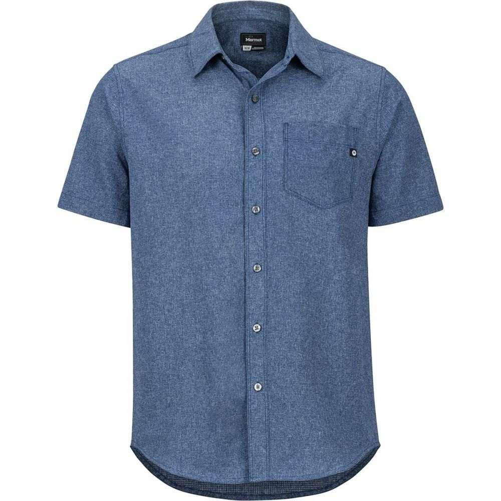 マーモット Marmot メンズ トップス 半袖シャツ【Aerobora Short - Sleeve Shirts】Arctic Navy