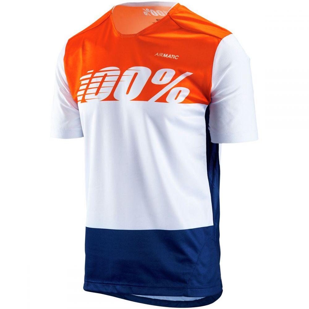 ヒャクパーセント 1 メンズ 自転車 トップス【Airmatic Jerseys】White Flag