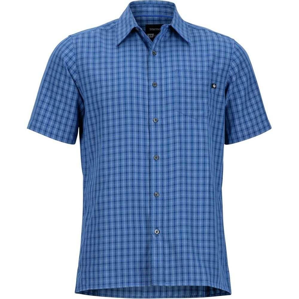 マーモット Marmot メンズ トップス 半袖シャツ【Eldridge Shirts】Varsity Blue