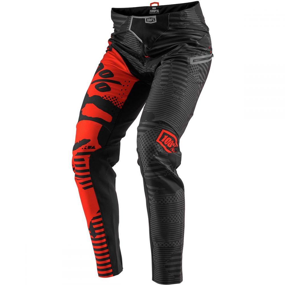 ヒャクパーセント 1 メンズ 自転車 ボトムス・パンツ【R - Core - X DH Pants】Camo Black/Red