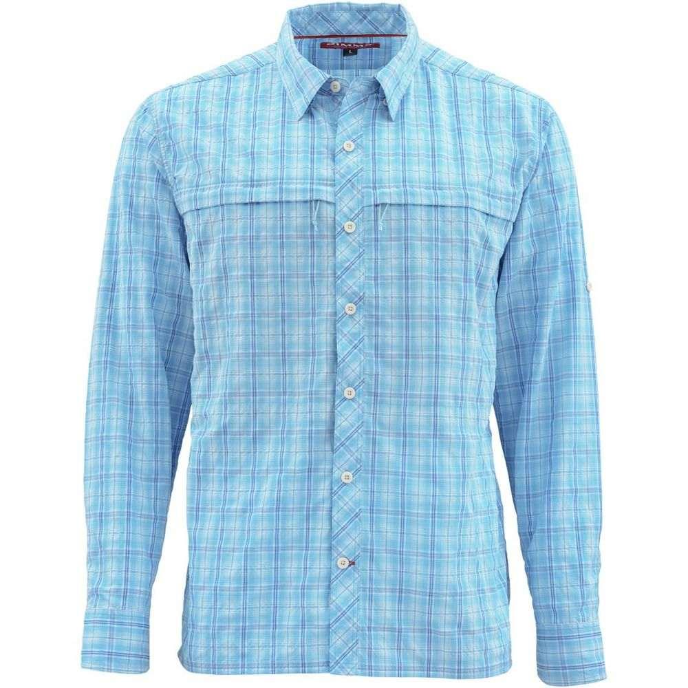 シムズ Simms メンズ 釣り・フィッシング トップス【Stone Cold Long - Sleeve Shirts】Indigo Plaid