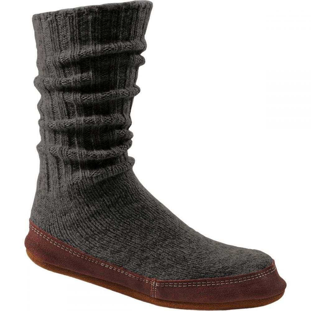 エーコーン Acorn メンズ シューズ・靴 スリッパ【Slipper Socks】Charcoal Ragg Wool