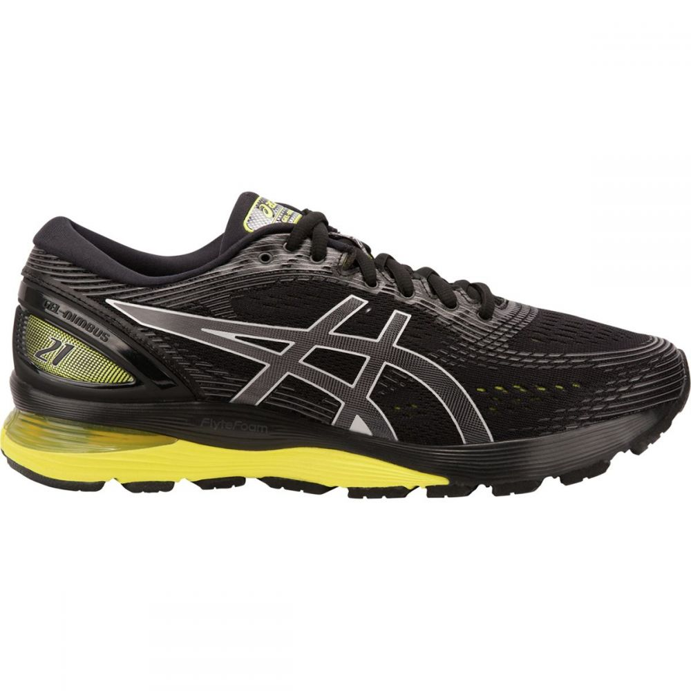 アシックス Asics メンズ ランニング・ウォーキング シューズ・靴【Gel - Nimbus 21 Running Shoes】Black/Neon Spark