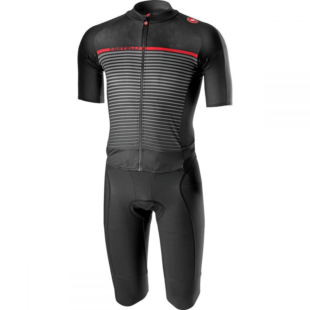 カステリ Castelli メンズ 自転車 ボトムス・パンツ【Classics Thermosuits】Black/Dark Gray