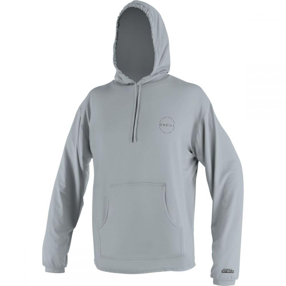 オニール O'Neill メンズ 水着・ビーチウェア ラッシュガード【24 - 7 Traveler Sun Hoodies】Cool Grey/Cool Grey