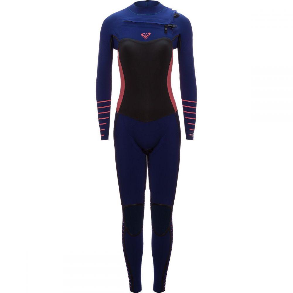 ロキシー Roxy レディース 水着・ビーチウェア ウェットスーツ【3/2 Syncro Plus Chest - Zip LFS Wetsuit】Navy Ll/Coral Flame