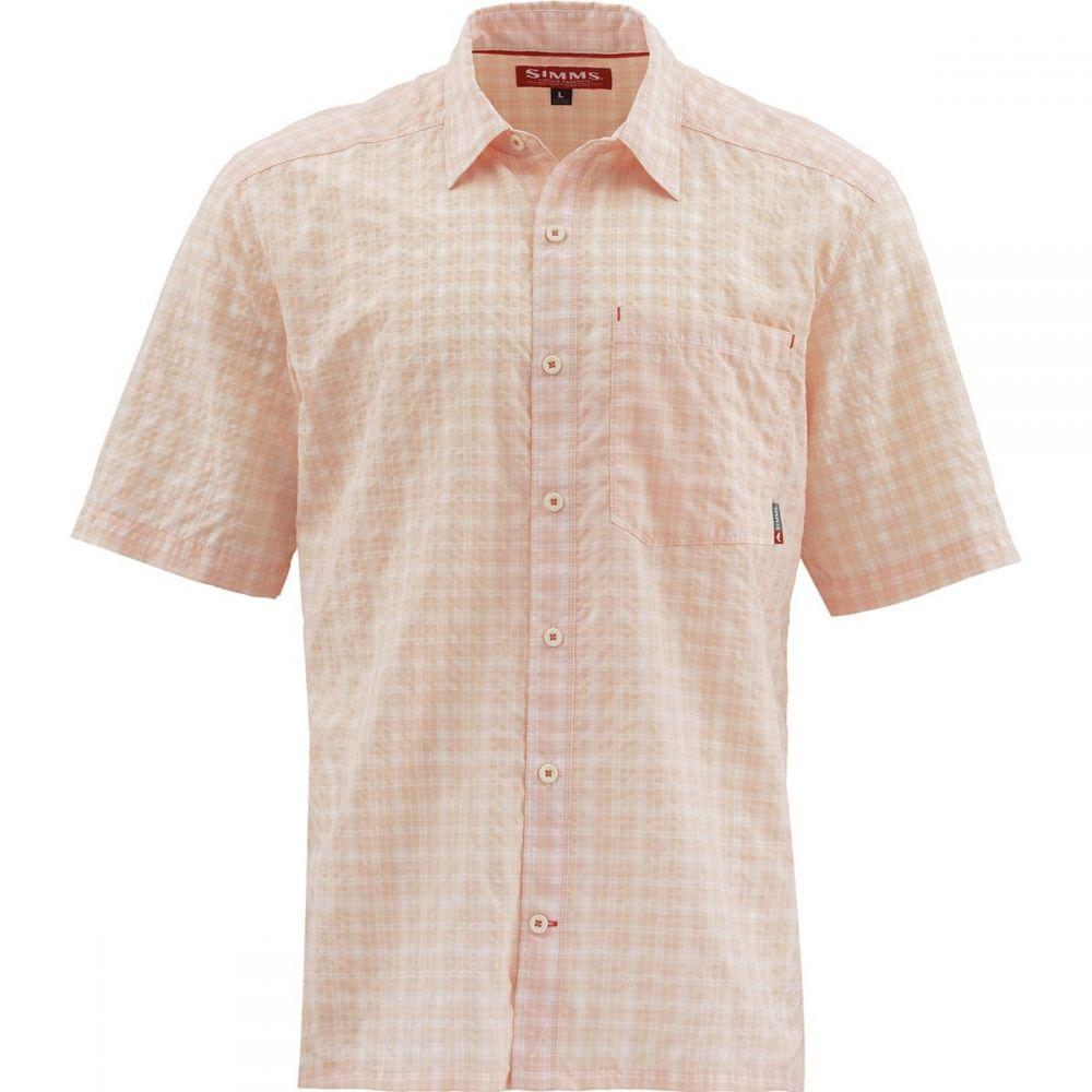 シムズ Simms メンズ トップス 半袖シャツ【Morada Short - Sleeve Shirts】Soft Pink Plaid